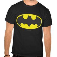 Batman Bat Logo Oval Tee Shirt T-Shirt, Hoodie for Men