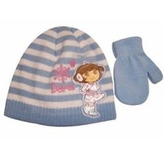 4-8 Years Scarf Hat /& Gloves DORA the EXPLORER  3 Piece Set One Size approx