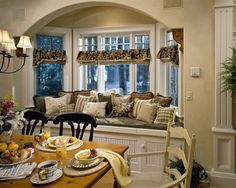 the window treatments are interesting---the light could come in the top, even if the shades were lowered.