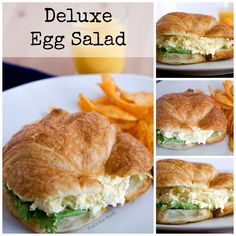 Deluxe Egg Salad - Looking for an upgrade on the traditional egg salad? Try this! It includes cream cheese and is by far my favorite version of egg salad!