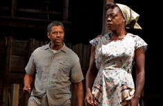 """Denzel Washington and Viola Davis in a 2010 production of August Wilson's """"Fences,"""" at the Cort Theater."""