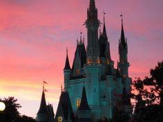 Cinderella Castle at sunset ... gorgeous!