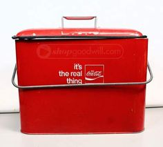 shopgoodwill.com: VTG Coca-Cola Red Metal Cooler w/Bottle Opener
