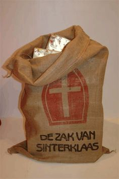 Tje bag from Sinterklaas, where all the gifts are in (just like Santa). Saints For Kids, St Nicholas Day, Dutch People, My Big Love, Presents For Kids, Netherlands, Holland, Pure Products, Tote Bag