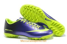 Nike Mercurial Vapor IX TF Cleats Navy Purple Fluorescent Green Chuteiras 60392948b49b3