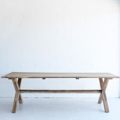 Cross Leg Dining Table | The Beach Furniture @kazshears