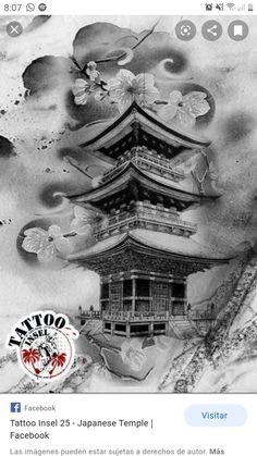 Japan Tattoo Design, Mandala Tattoo Design, Skull Tattoo Design, Tattoo Sleeve Designs, Warrior Tattoo Sleeve, Samurai Warrior Tattoo, Japanese Temple Tattoo, Japanese Tattoo Art, Chinese Sleeve Tattoos