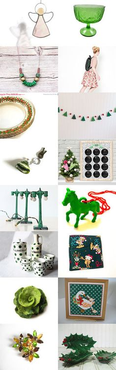 Christmas green by Nadejda on Etsy--Pinned with TreasuryPin.com