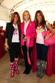 Tanya Snyder with Kathleen and Kristina Cuce' at the WOW Pre-Game Party 10/16