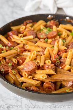 Kilbasa Sausage Recipes, Sausage Recipes For Dinner, Smoked Sausage Recipes, Polish Sausage Recipes, Recipe For Sausage Casserole, Sausage Noodle Recipe, Healthy Sausage Recipes, Chicken Sausage Recipes, Healthy Desserts