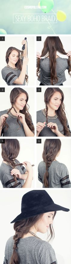 Pro tip: knot one section of your hair before you braid it for a sexy, boho look.