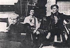 Brian Eno, David Bowie and Robert Fripp making Low
