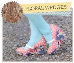 Floral Wedges
