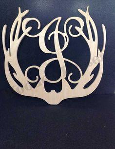 Deer+Antler+Border+Monogram+Style2++hunting+by+woodenletters