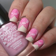 The Clockwise Nail Polish: Purple Professional 63 Spring Love & Pink and Nude Gradient Great Nails, Simple Nails, Love Nails, Pink Nails, Elegant Nail Designs, Pink Nail Designs, Cool Nail Designs, Crazy Nail Art, Cute Nail Art