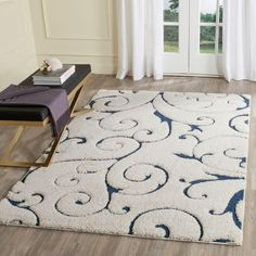 Safavieh Florida Shag Cream/Beige 9 ft. 6 in. x 13 ft. Area Rug-SG455-1113-10 - The Home Depot