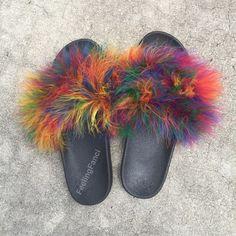 5504a7d28 Fur Slides