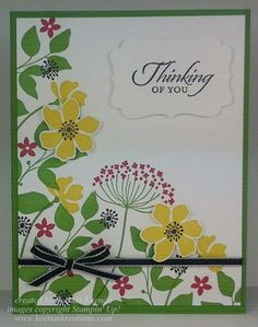 Easy Floral Card using Stampin' Up!'s Summer Silhouettes