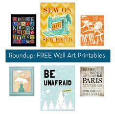 Roundup: Hundreds of FREE Wall Art Printables
