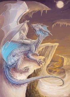 Snowdragon by *Leundra on deviantART