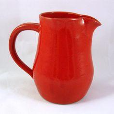 Stoneware Pottery Pitcher by CrookedCreekStudio1 on Etsy, $30.00