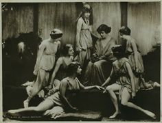 """Arnold Genthe- The """"Isadorables,"""" students of Isadora Duncan 1917/ Irma Duncan Collection."""