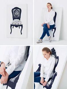 canvas chair interactive art