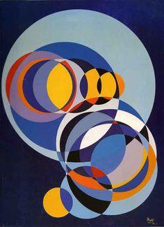 Juan Melé / Círculos espaciales Nº 62, acrílico sobre lienzo, 1971