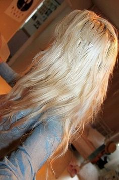 stylish long blonde hair