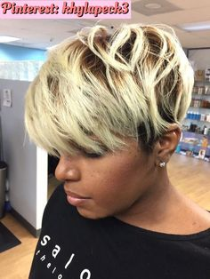 Short hair Pintrest Multicultural hair salon jacksonville Florida Short hairstyles short haircuts shorthaircuts for Black women Hairstyles by Celebrity stylist Pekela Riley Salon Pk Jacksonville Florida. Older Women Hairstyles, Hairstyles With Bangs, Braided Hairstyles, Brunette Hairstyles, Black Hairstyles 2018, Haircuts, Wedding Hairstyles, Wave Hairstyles, American Hairstyles