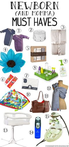 Newborn and Mom Must Haves - The perfect list of items to help make it through the first month with an infant (items for both mommy and baby).