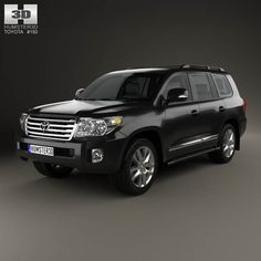 Toyota Land Cruiser (J200) with HQ interior 2013 3d model from humster3d.com. Price: $125