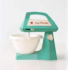 Vintage Suzy Homemaker Toy Mixer. I wanted a SH oven so bad as a child and never got one. I use that as an excuse as to why I don't like to cook now. :)