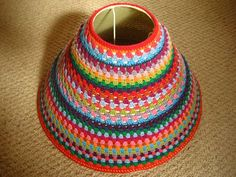 Attic 24: how to crochet over a lamp shade