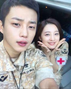 """Kim Min Suk Shares Cute Selfie With """"Descendants of the Sun"""" Co-Star Kim Ji Won"""