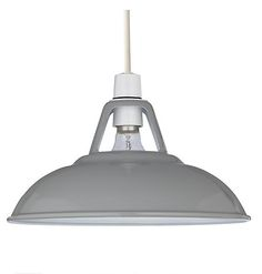 Croft collection Campbell ceiling shade in Grey, £30, John Lewis