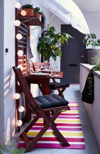 praktische balkonideen kleinen balkon gestalten platzsparende ...