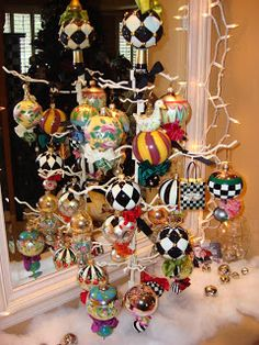 MacKenzie-Childs Christmas Ornaments