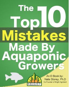 Free… Learn from our mistakes! This ebook is written for the aspiring commercial aquaponics or hydroponics grower looking to be successful. Hydroponic Farming, Aquaponics Greenhouse, Aquaponics Fish, Fish Farming, Hydroponics System, Diy Hydroponics, Greenhouse Growing, Vertical Farming, Growing Plants