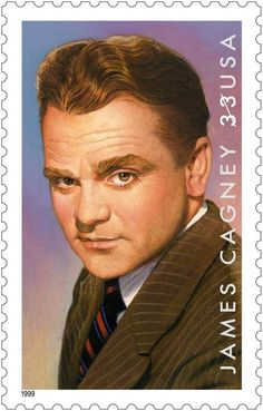 James Cagney! born on July 17,1899, Cagney was best known for his on-screen portrayal of gangsters and tough guys in films like Little Caesar and The Public Enemy. His stamp was issued in 1999 in celebration of the 100th anniversary of his birth.