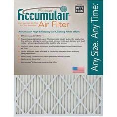 Accumulair Platinum 1 inch Air Filter, 4-Pack