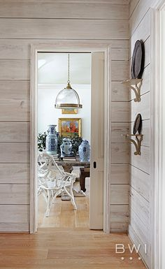 Whitewashed shiplap walls by Beth Webb Interiors