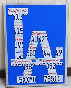 5180148757be Los Angeles Dodgers California License Plate Metal by drewshadeart