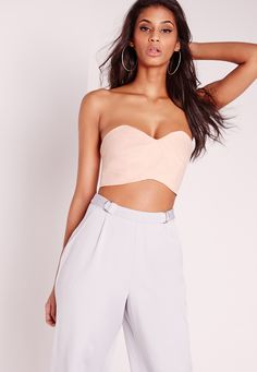Cut Out Bralet Nude - Missguided