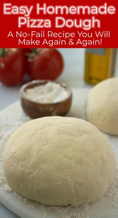 This Homemade Pizza Dough Recipe is so easy, and I consider it to be no-fail! It results in a traditional crust that is both chewy and crisp. Recipes pizza Homemade Pizza Dough is so EASY! Good Pizza, Pizza Pizza, Dough Pizza, Easy Homemade Pizza Dough Recipe, Pizza Dough With Yeast, Pizza Rolls, How To Make Pizza Dough Recipe, Recipe For Homemade Pizza Dough, Easy Stromboli Dough Recipe