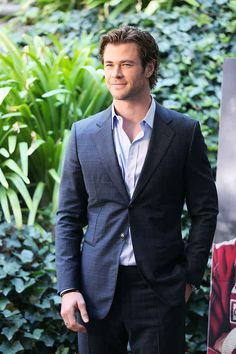 Here he is in a suit. | Definitive Proof That Chris Hemsworth Is An Actual Norse God