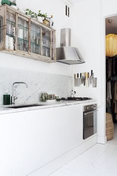 kuali cocinas - marmol en decoración marmol cocinas modernas estilo nórdico Estilo minimalista Encimeras y revestimientos en la cocina de mármol cocinas nórdicas cocinas blancas modernas blog decoración de interiores