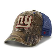 best website a48a0 abc49 NFL New York Giants 47 Huntsman Closer Camo Mesh Stretch Fit Hat One Size  Realtree Camouflage