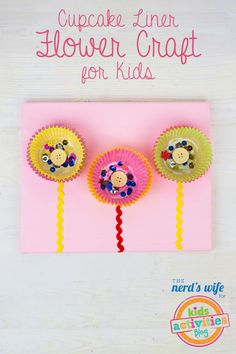 Make our own paper flowers with this fun cupcake liner flower craft for kids.