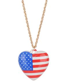 old glory heart necklace